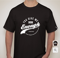 "Black & White ""Just Enough"" T-Shirt"