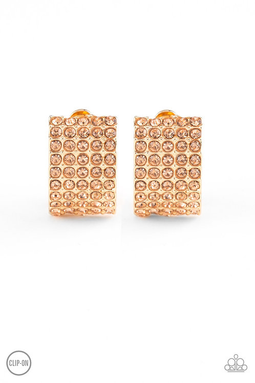Hollywood Hotshot - Gold (Clip-On Earrings)