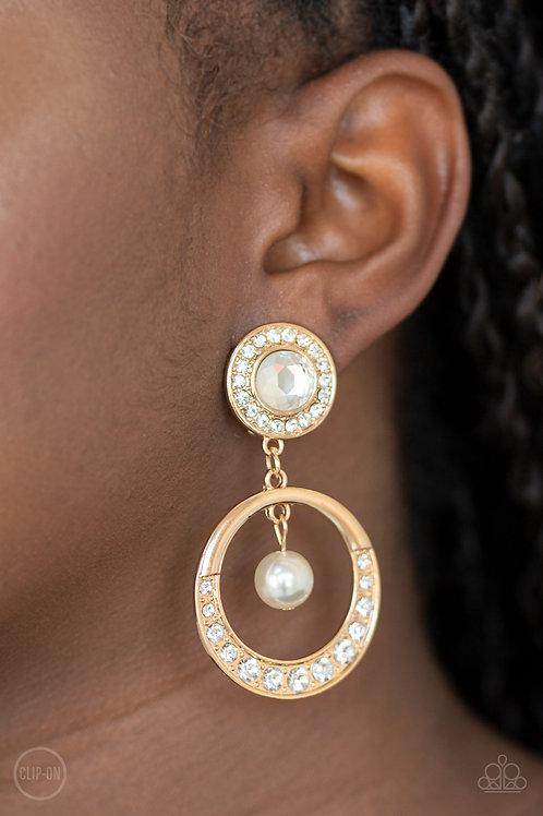 Regal Revel - Gold (Clip-On Earrings)