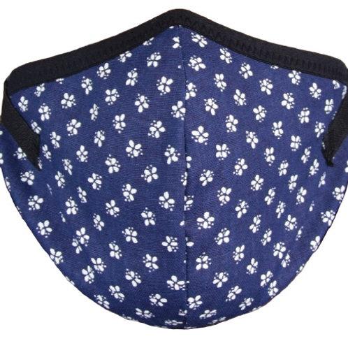 Mund-Nasenmaske Baumwolle blau