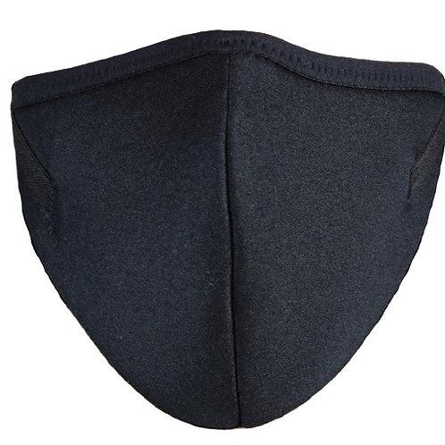 Mund-Nasenmaske Lycra schwarz