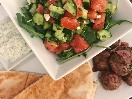 Greek Meatballs + Tzatziki