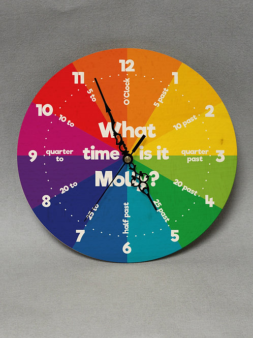 What Time Is It? Wooden Clock