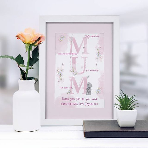 Me To You MUM A4 Framed Print