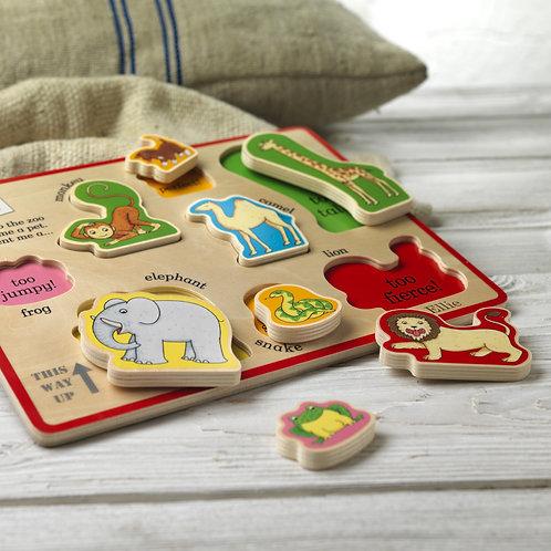 Dear Zoo Puzzle Tray