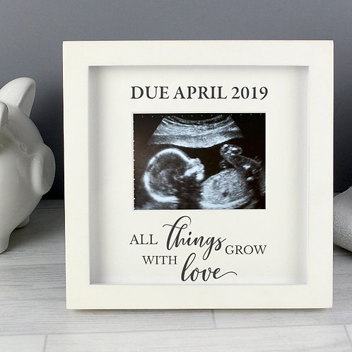 'All Things Grow With Love' 4 x 3 Baby Scan Frame