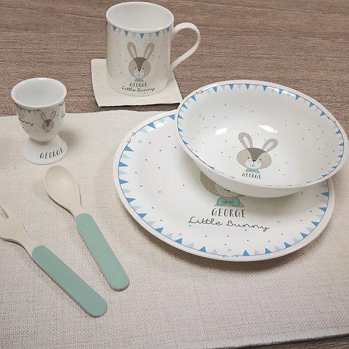 Little Bunny Blue Breakfast Set