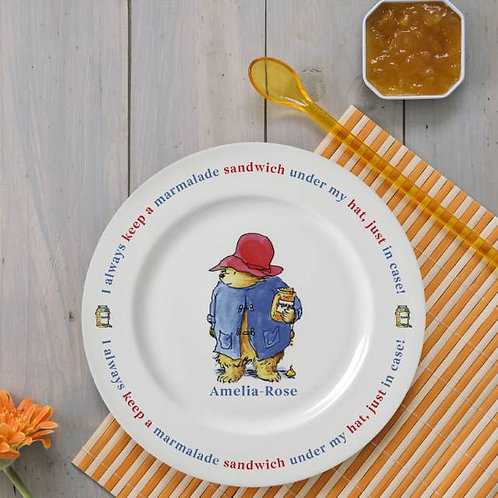 "Paddington Bear Marmalade Sandwich 8"" Rimmed Plate"