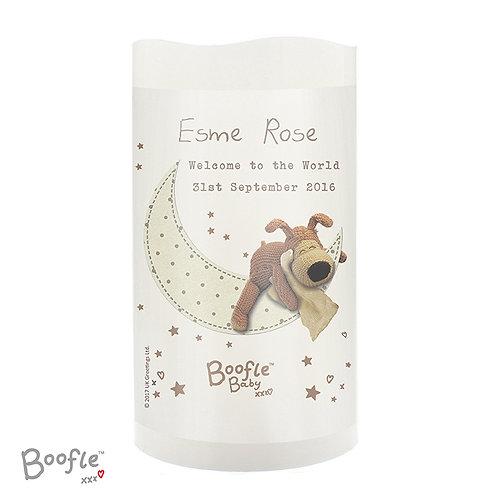 Personalised Boofle Baby Nightlight LED Candle