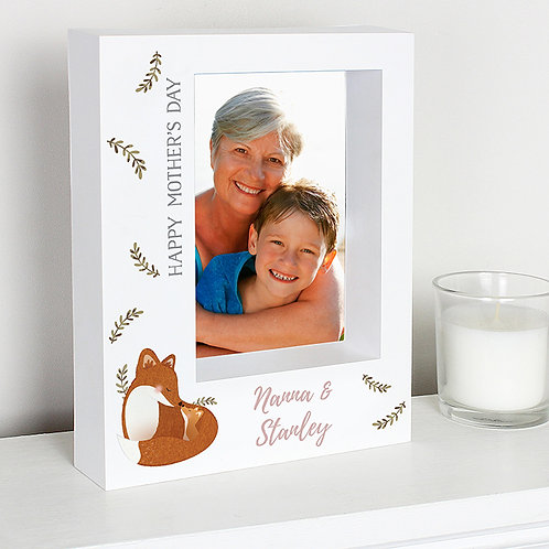 Personalised Mummy and Me Fox 5x7 Box Photo Frame