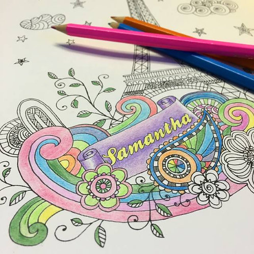 Personalised Adult's Colouring Book Softback