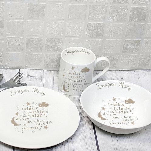 Personalised Twinkle Twinkle Breakfast Set