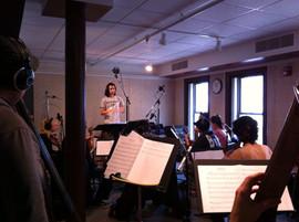 Fabio Rojas conducting for Film Scoring project
