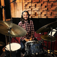 Recording session at Studio 42.