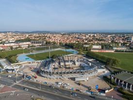 Chantier Narbonne Arena par drone