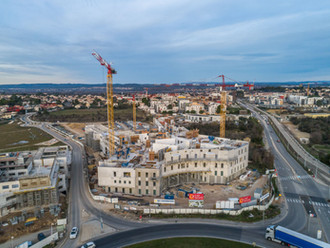 Chantier Clinique St Jean par drone