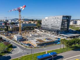 Chantier Neos Montpellier par drone