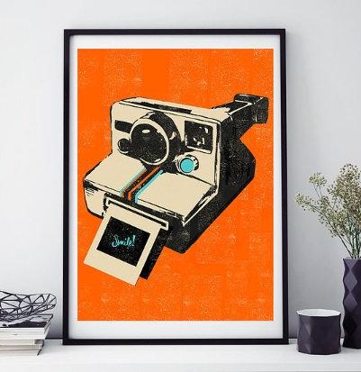Retro Camera Framed Print