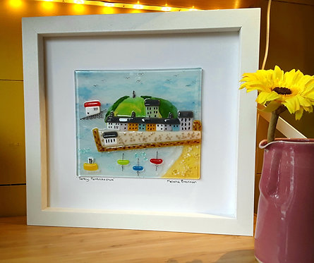 Fused Glass Picture  - Tenby