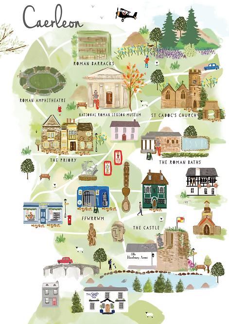 Framed Caerleon Map