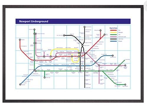 Newport Underground Print