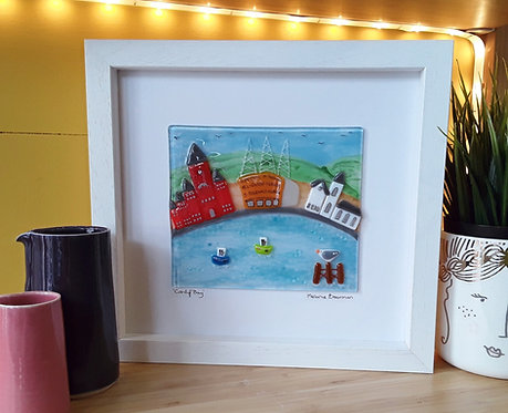 Fused Glass Picture  - Cardiff Bay