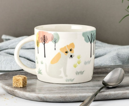 Handmade Ceramic Dog Mug
