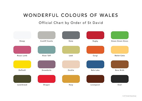 Wonderful Colours of Wales - A4 Print