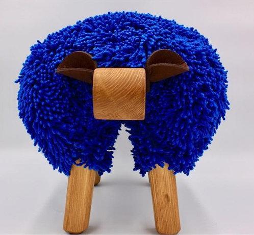 Imperial Blue / Oak Sheep Footstool