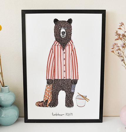 Lock Down Bear Print