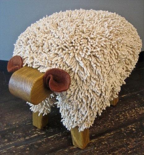 Walnut / Oak Sheep Footstool