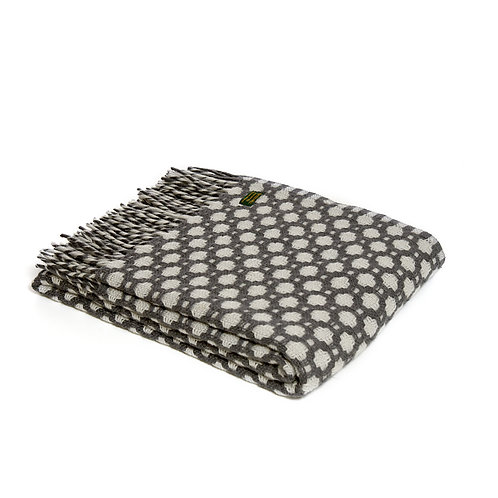 Crossroads Grey Throw