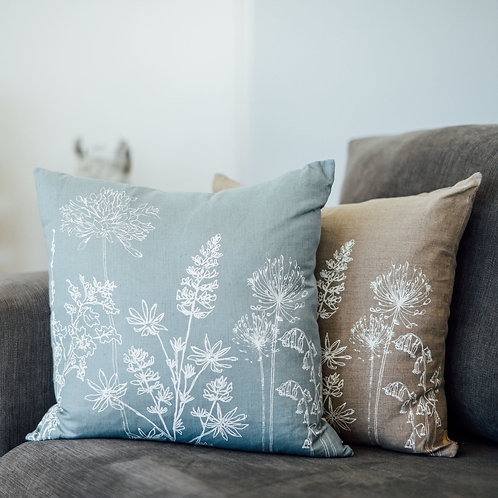 Floral Cushion Pure Linen