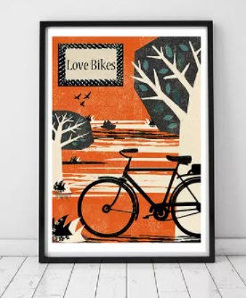 Love Bikes Framed Print