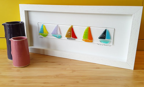 Fused Glass Picture  - Yachts