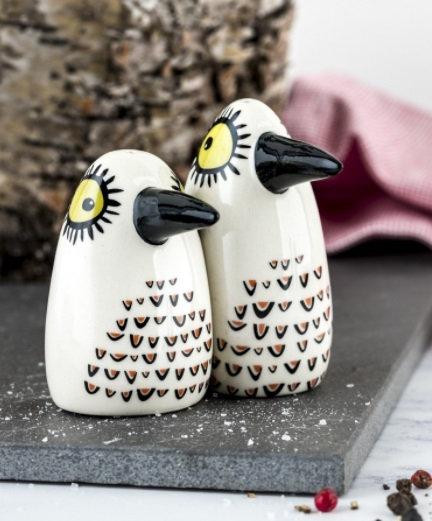 Handmade Ceramic Birdy Salt and Pepper Shakers