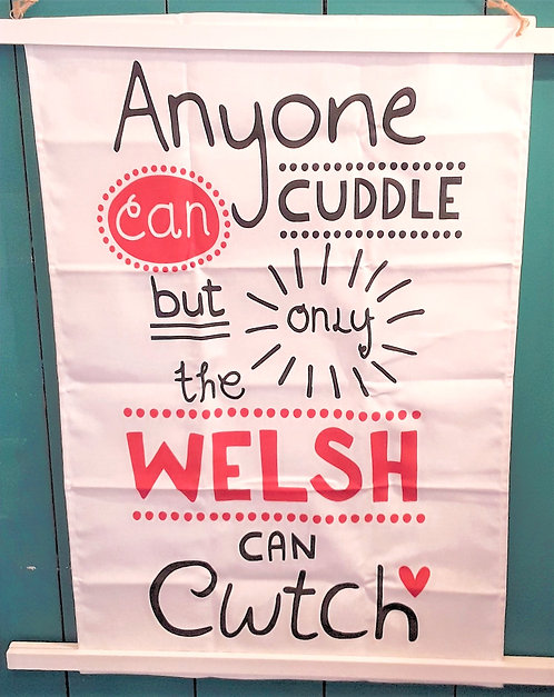 Anyone Can Cwtch - Tea towel