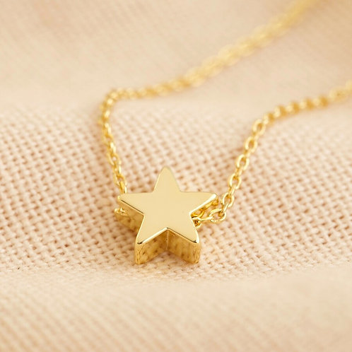 Star Bead Necklace in Gold