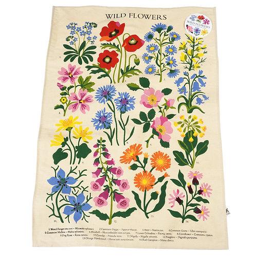 Wild Flowers Tea Towel