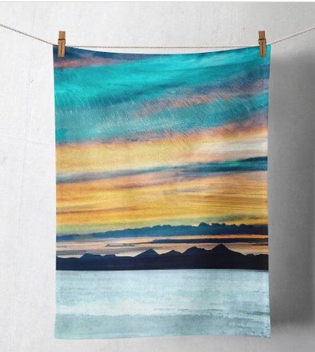 Tea Towel - The Western Isles from Skye