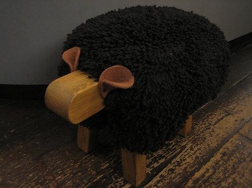 Black/Oak Ewemoo Sheep Footstool