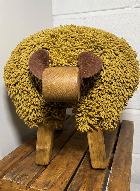 Golden Mist / Oak Sheep Footstool