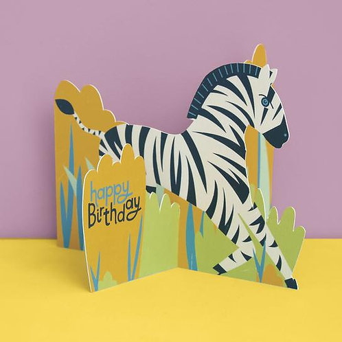 Card -Zebra Happy Birthday