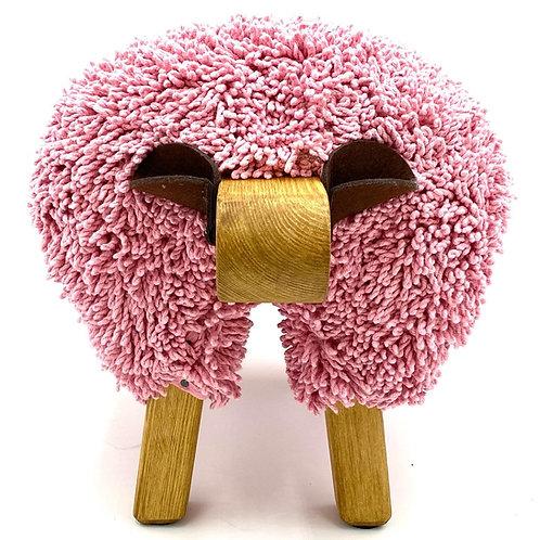 Pink/Oak Ewemoo Sheep Footstool