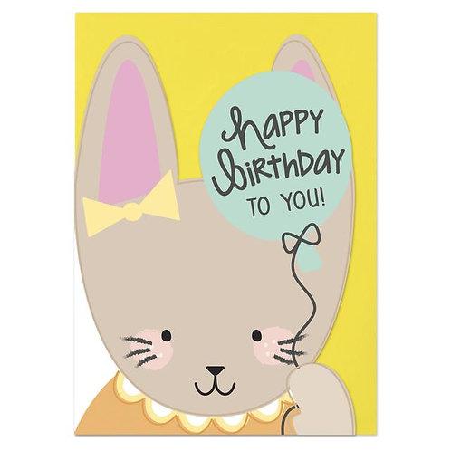 Happy Birthday Card - Rabbit
