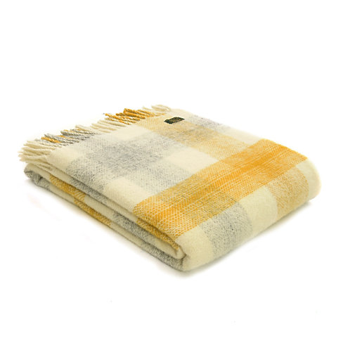 Meadow Check Yellow Throw