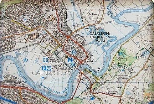 Caerleon Map Glass Worktop Protector