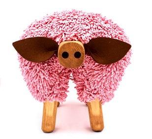 Pig/Oak Ewemoo Footstool