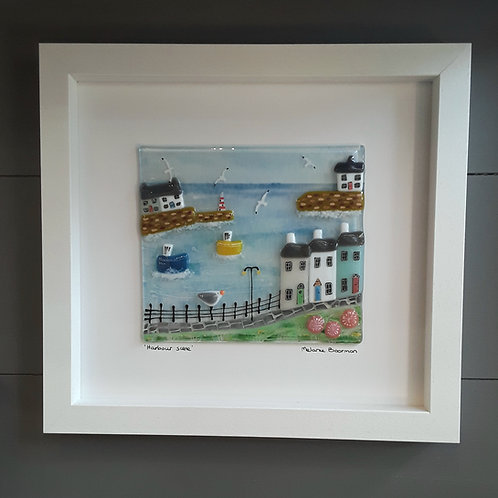 Fused Glass Picture  - Harbour Scene