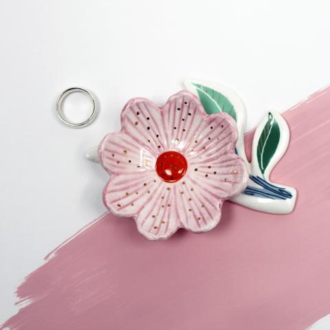 Secret Garden Flower Trinket Dish